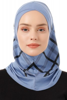Ekose Cross - Indigo One-Piece Al Amira Hijab