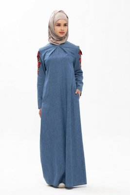 Jalila Denim Modest Klänning Neways 280389a
