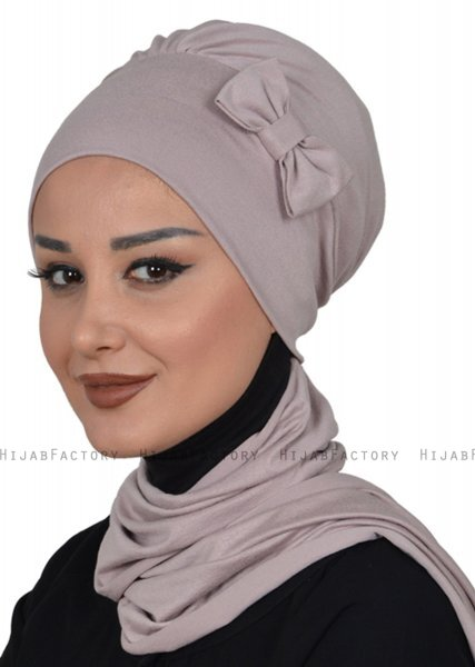 Bianca - Taupe Bomuld Turban