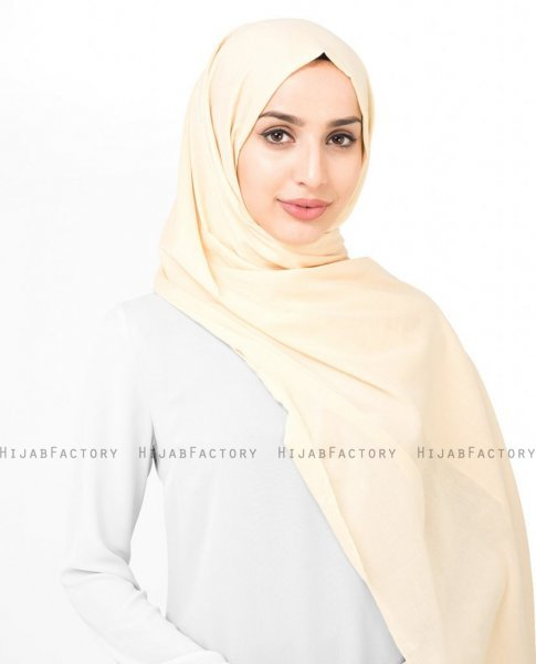 Mellow Buff - Creme Bomull Voile Hijab Sjal InEssence Ayisah 5TA42a