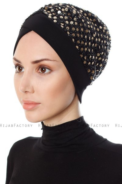 Nurten - Sort & Gold Turban